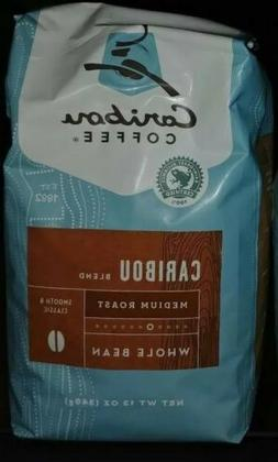 1 Caribou Coffee, Whole Bean. Caribou Blend, Med. Roast, 12-