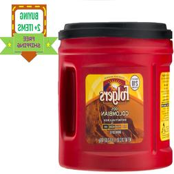 Folgers 100% Colombian Med-Dark Ground Coffee, 24.2 OZ New F
