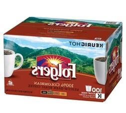 Folgers 100% Columbian Coffee Medium Dark Roast 100 K-Cup Si