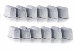 12 Pack Compatible Charcoal Water Filter Replacement for Cui