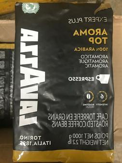 2.2lb Lavazza Aroma Top Espresso Roasted Coffee Beans 1/30/2