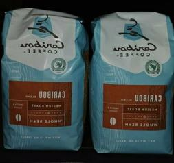 2- Caribou Coffee, Whole Bean. Caribou Blend, Med. Roast, 12