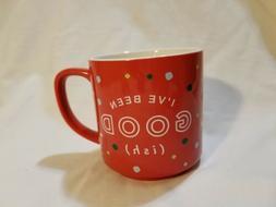 """Caribou Coffee 2017 Holiday Red Polka Dot 12 oz Coffee Mug """""""