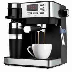 3-in-1 15-Bar Espresso, Coffee, and Cappuccino Maker Machine