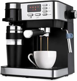 3 in 1 Espresso Coffee Machine Cappuccino Maker Programmable