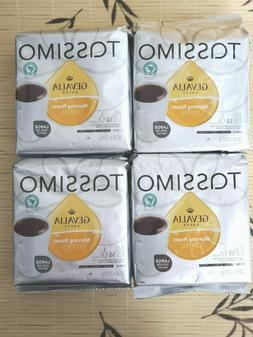4 PACKS GEVALIA MORNING ROAST COFFEE, 14-CT T-DISCS FOR TASS