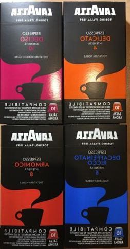 40-Lavazza Expresso Capsules For Nespresso Machines Only 4 P