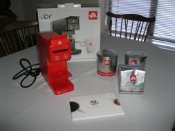 illy 60298 y3.2 Espresso and Coffee Machine, Red NIB