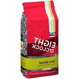 Eight O'clock Coffee Arabica 50% Decaf Whole Bean Coffee, 36