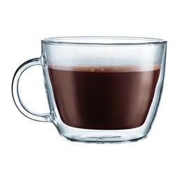 Bodum Bistro 2 Piece double wall 0.45 L 15 oz Cafe Latte Cup