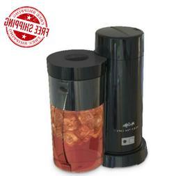 Black Iced Tea/Iced Coffee Maker W/ Lid 2 Qt. Brewing Glass