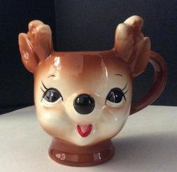 Pottery Barn Cheeky Reindeer Mug ~ Hot Cocoa Coffee Figural