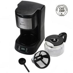 Coffee Maker 5 Cups Machine Drip Filter Glass Carafe Automat