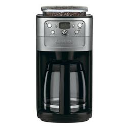 Cuisinart Coffee Maker Grind Brew 12-Cup Black Chrome Progra