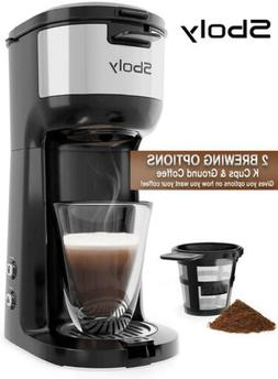 Coffee Maker Machines Single Serve Brewer K-Cup Pod&Ground C