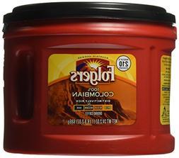 Folgers 100% Colombian Medium Dark Roast Ground Coffee, 24.2