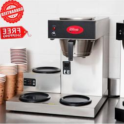 Commercial Office Hot Coffee Maker Machine 3 Pot Warmer Pour