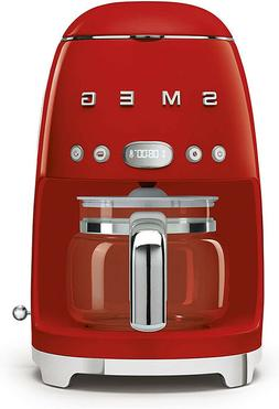 Smeg Drip Filter Coffee Machine Red 10 cup S07D Free Shippin