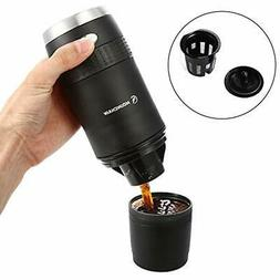 Filter Coffee Machine, Mini Compact Portable Travel Power &a