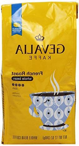 GEVALIA French Roast Coffee, Whole Bean, 12 Ounce
