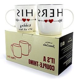 Janazala Funny Coffee Mugs For Couples,Kidding, Anniversary
