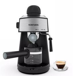 home espresso machine w milk steam frother