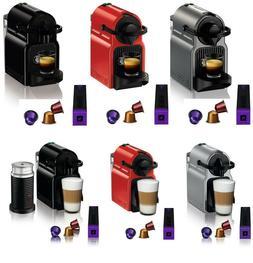 Nespresso Inissia Espresso Maker Brewer 14 Capsules Kit w/ O