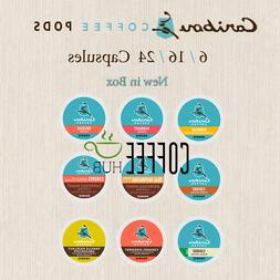 Caribou Coffee K Cups 6 16 18 24 Count Pods Capsule lot Mix