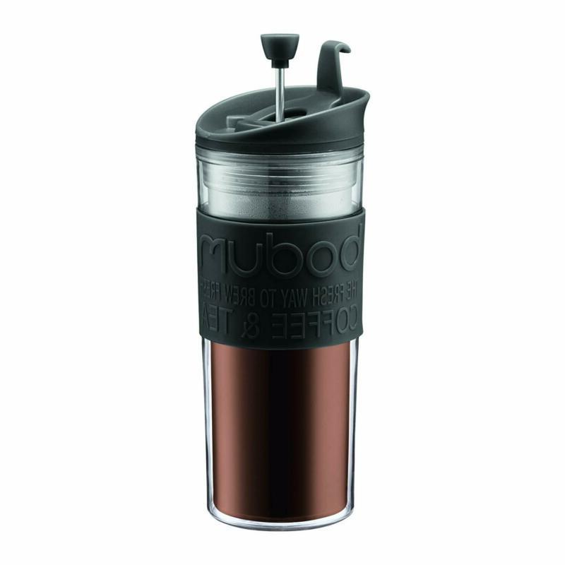 BODUM 11100-01BUS Tea and Coffee Press, Plastic Insulated Tr