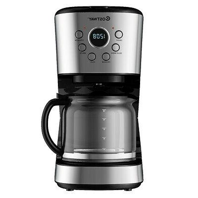 12 cup programmable coffee maker brew machine