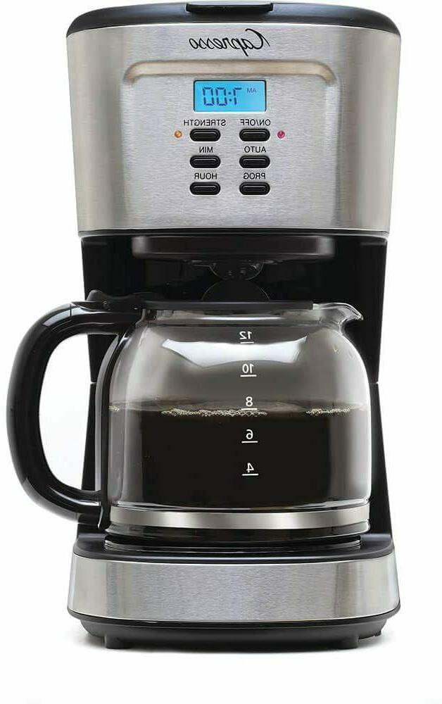 12 cup programmable coffee maker stainless steel
