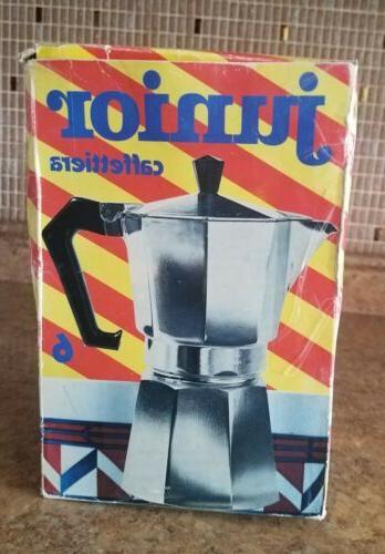 Bialetti 2 Cup Coffee Maker Junior Kaffee machine NIB