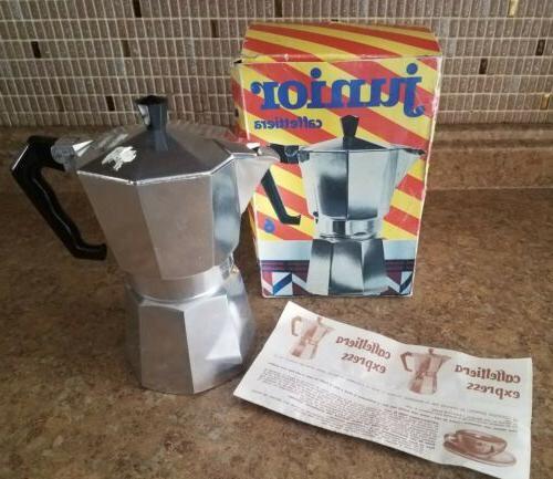 2 cup aluminum coffee maker junior caffetteria