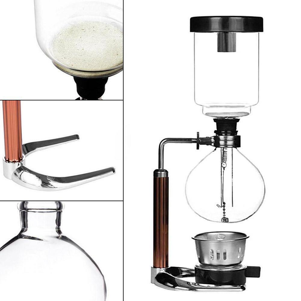 3 Cups Home Office Hand Siphon Coffee Maker Pot Glass Coffee