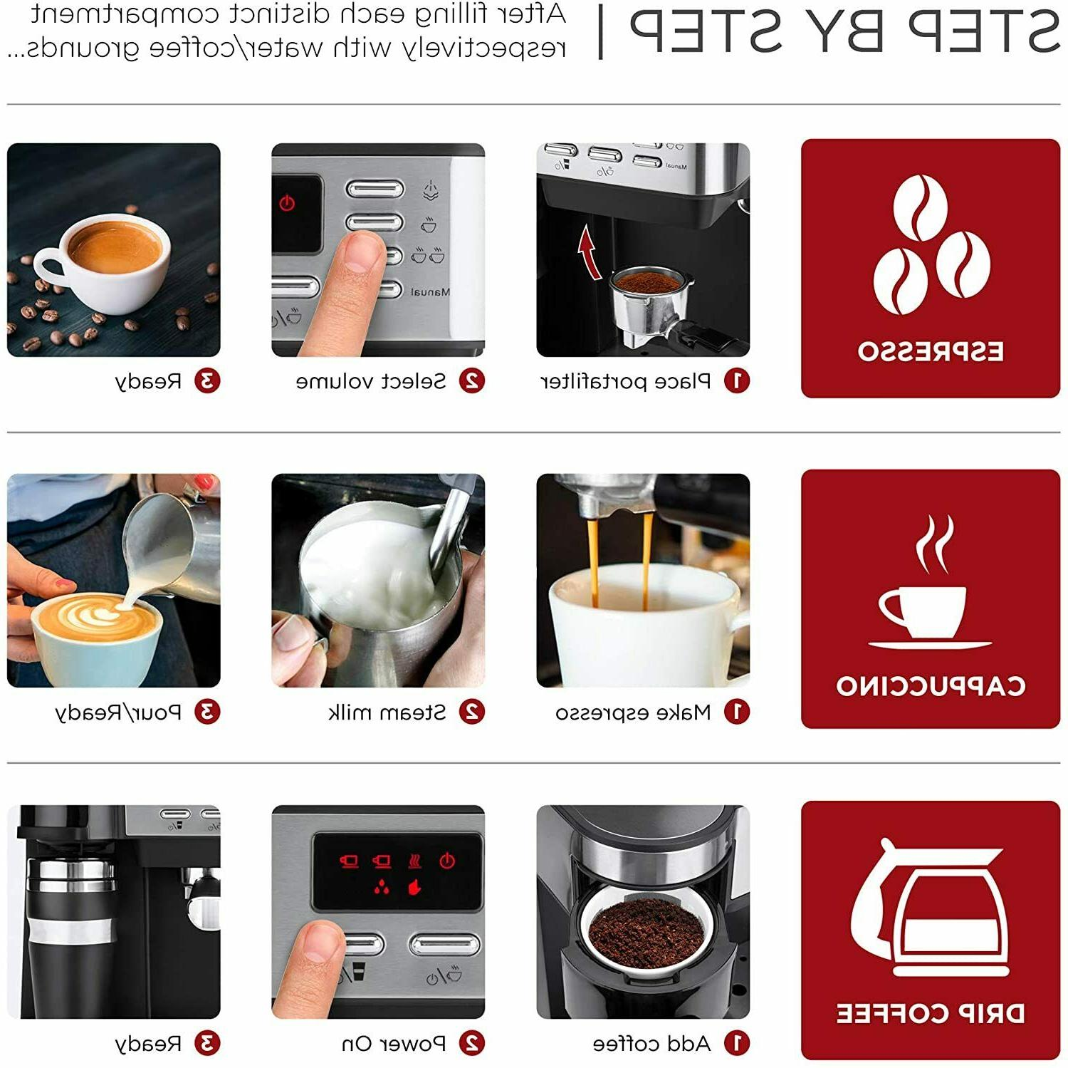 3 in Coffee Cappuccino Programmable 115-Bar Accessories