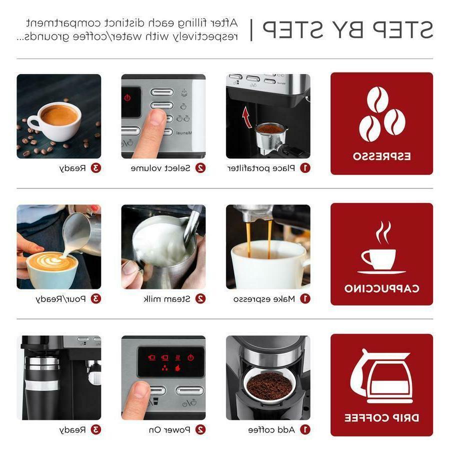 3 Espresso Coffee Machine Maker Programmable Accessories