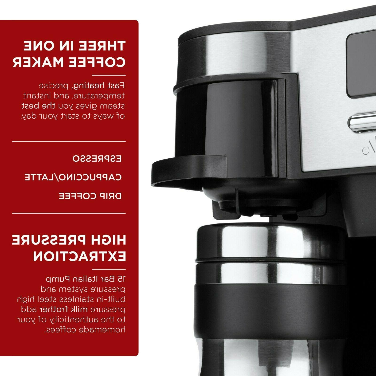 3-in-1 Espresso, and Cappuccino Latte Machine