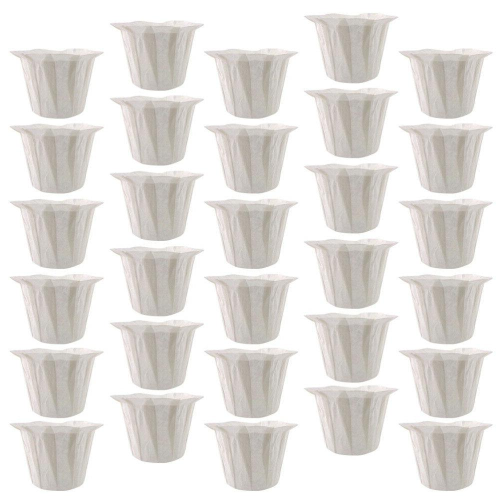 50pcs Disposable Coffee Machine Filters Replacement Paper Cups for