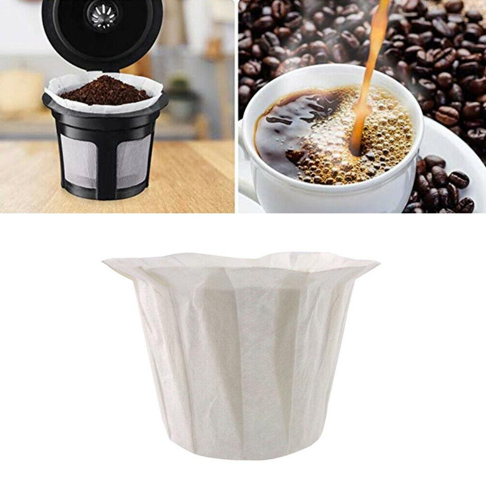60pcs Disposable Machine Filters Replacing Paper Filtering Cups Home