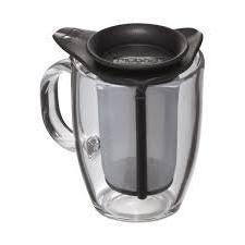 Bodum Yo-Yo Set Mug and Tea Strainer, 12-Ounce, Black