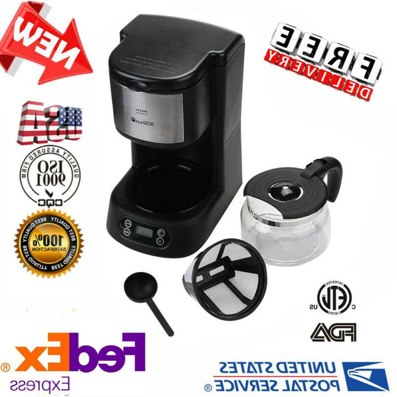 Programmable Coffee Machine Automatic 5-Cup Glass Carafe Cof