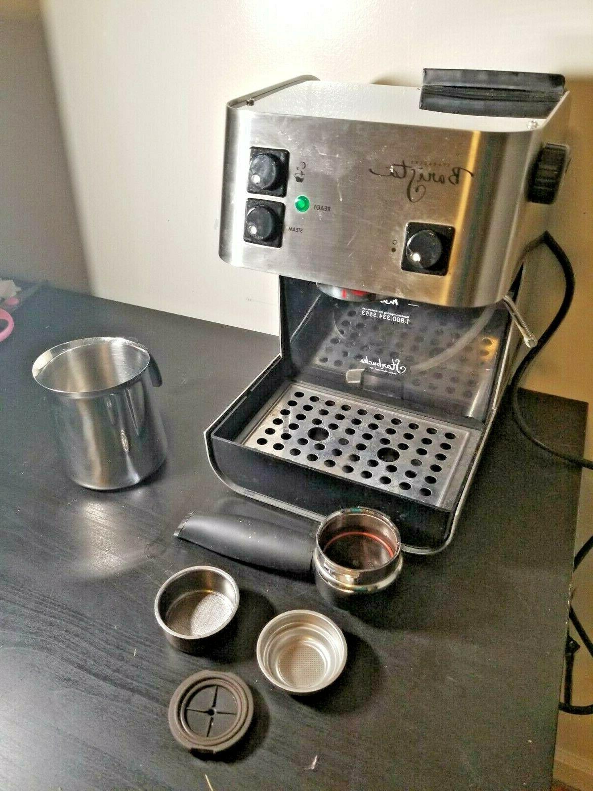 Starbucks Barista Saeco Coffee Stainless Silver Very Nice