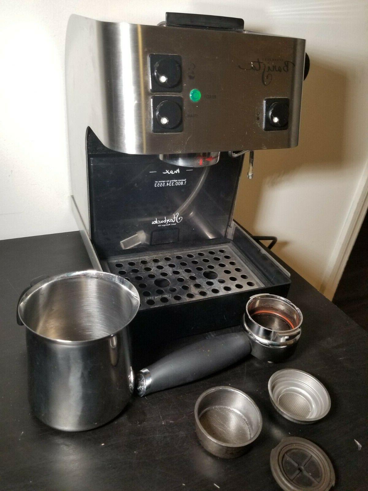 barista saeco espresso coffee machine stainless steel