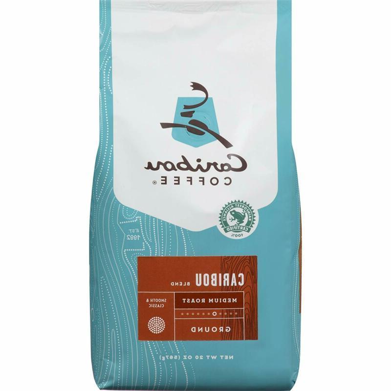Caribou Coffee, Caribou Blend, Ground, 20 oz. bag, Smooth Ba