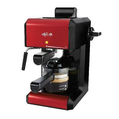 Mr. Coffee Cafe 20 Ounce Steam Automatic Red Espresso And Ca
