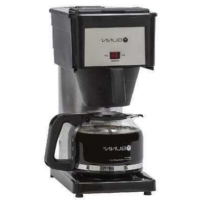 Coffee Brewer Maker Tank Machine Commercial Home 10 Cup Steel Black