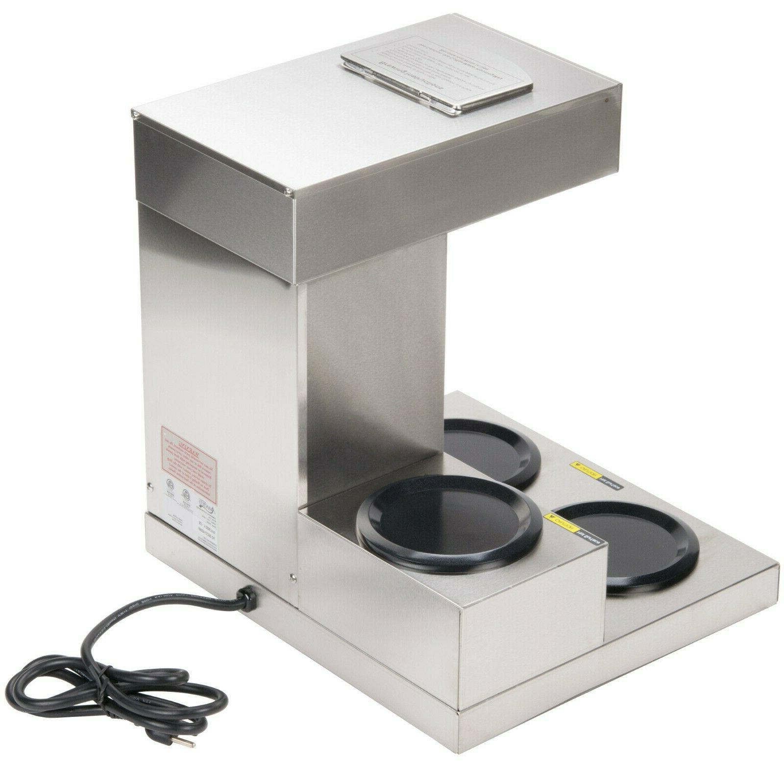 Commercial Maker Machine 3 Warmer Pourover 12