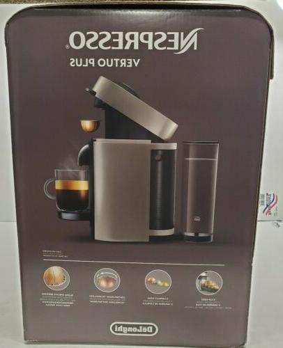 Nespresso DeLonghi VertuoPlus Espresso Gray Coffee