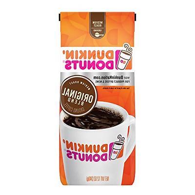 dunkin donuts original blend ground coffee medium