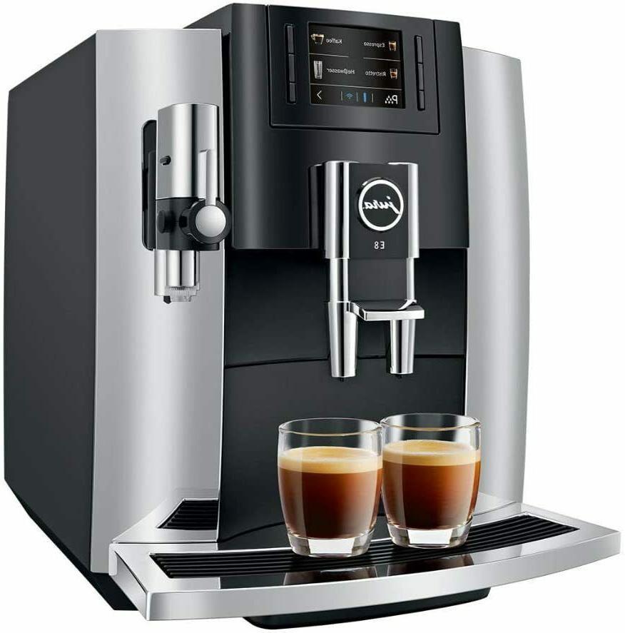 e8 automatic coffee machine chrome 15271